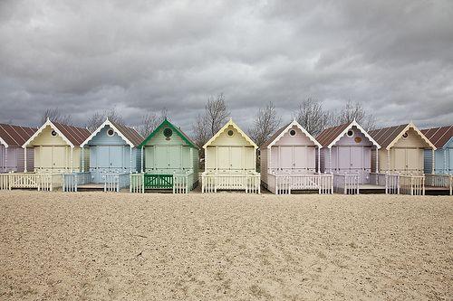 Mersea Island beach huts, Essex, UK | by CH-Yann, via Flickr