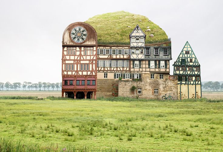 matthias jung makes montages of surreal and structurally impossible homes