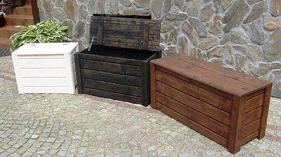 Gartentruhe Truhe Auflagenbox Kissenbox Gartenbox Box Holz Holztruhe TOP PREIS