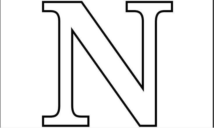 Printable PDF Letter N Coloring Page