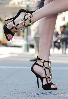 Sandalo Stelle Pelle