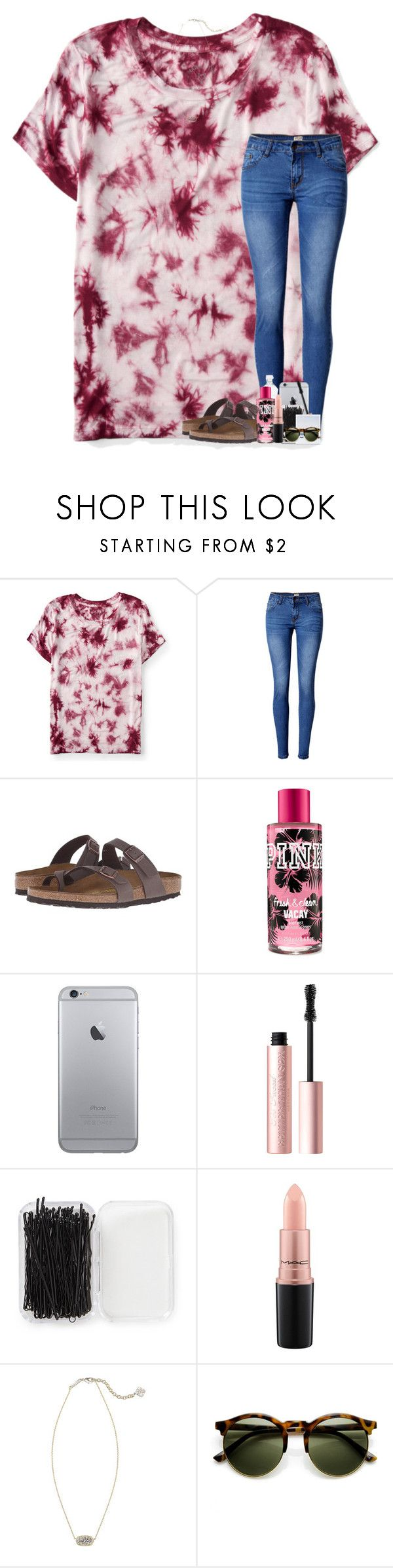 """please rtd. "" by theblonde07 ❤ liked on Polyvore featuring Aéropostale, WithChic, Birkenstock, Too Faced Cosmetics, Forever 21, MAC Cosmetics and Kendra Scott"