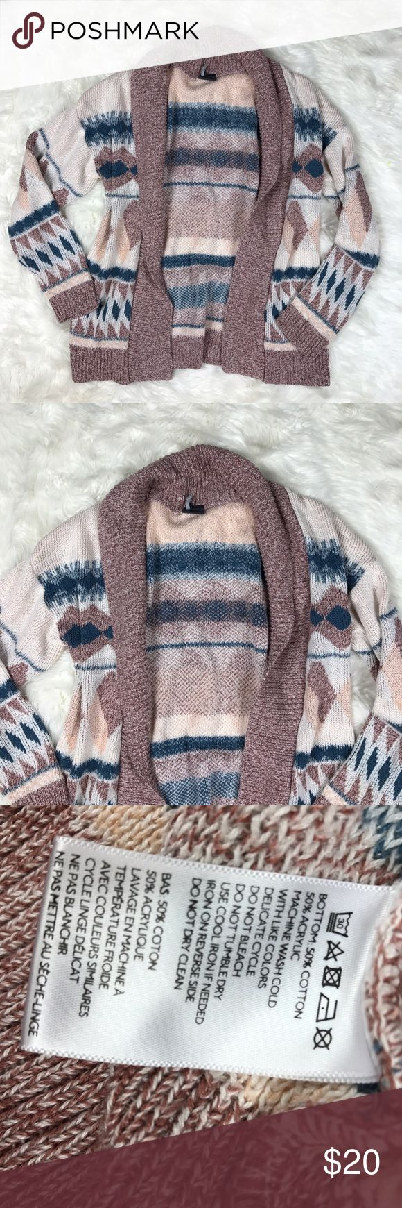 Sparkle & fade Aztec open front cardigan medium Sparkle & fade open front Aztec boho cardigan size medium Urban Outfitters Sweaters Cardigans