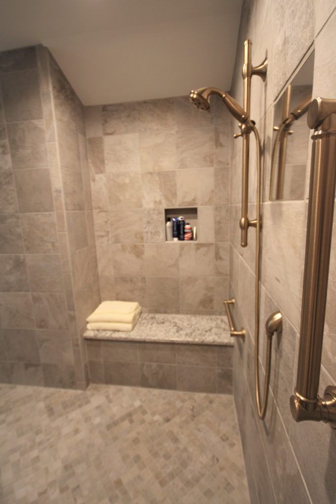 The Zero Entry Shower Sophisticated Bathroom Bathroom Design