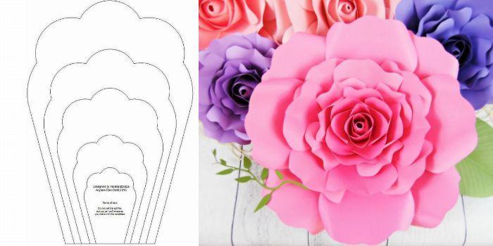 Molde De Rosa Em Eva Com Caneta 30 Modelos Para Imprimir Molde