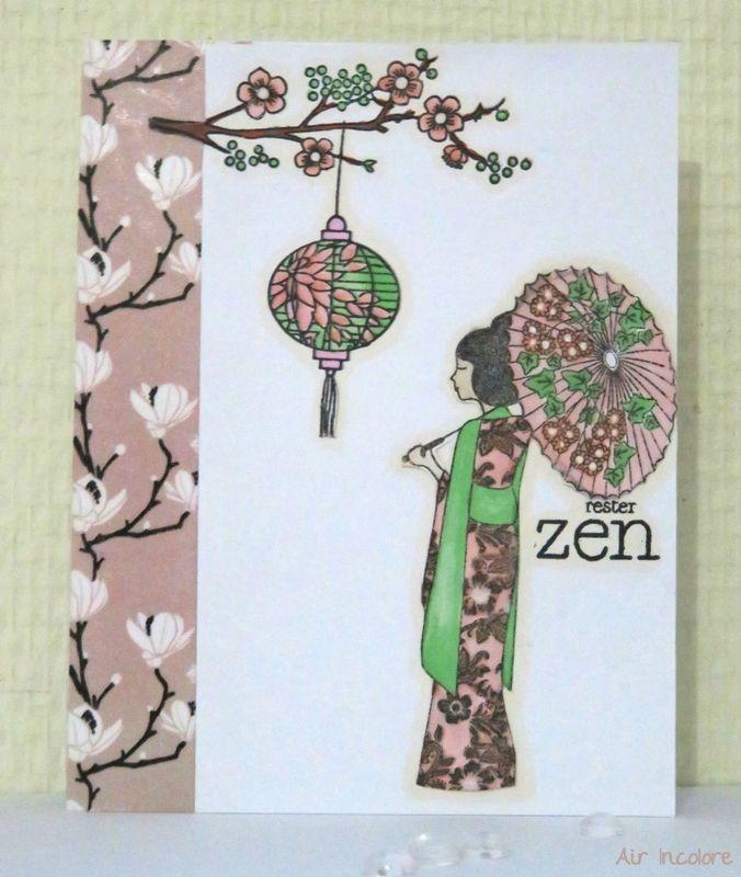 Carte ZEN et douceur de cerisier