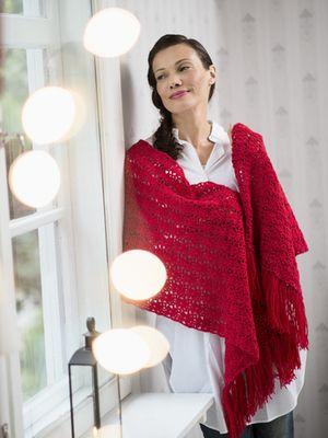 Virkattu hartiahuivi Novita Nalle   Novita knits