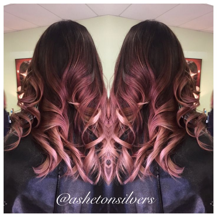 rose gold ombre color melt