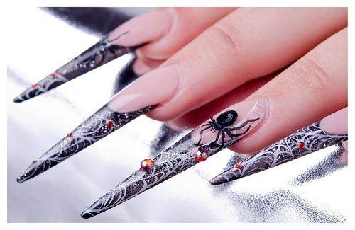 Nail art by Eszter Varga  Hand painted halloween nail design