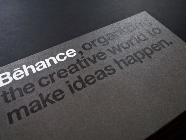 Behance Business Cards on Behance