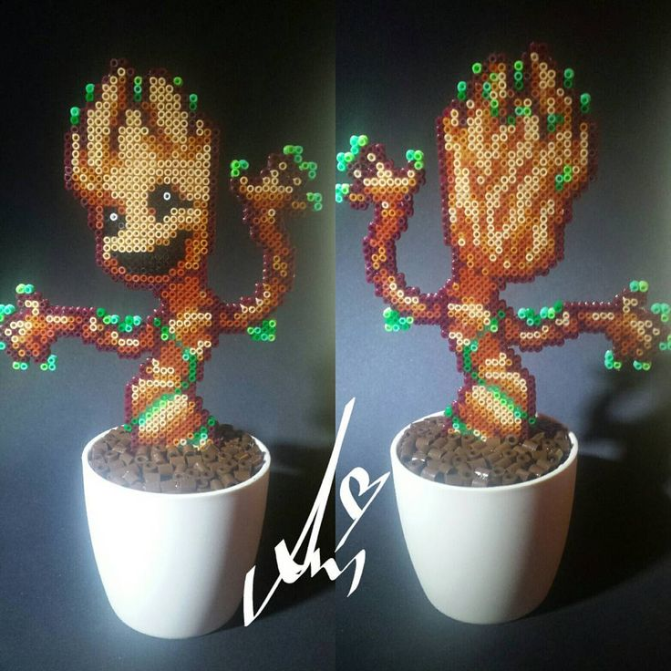 This is the best Baby Groot! by Awi's Perl-Art (@awis_perlart) on Instagram #guardiansofthegalaxy
