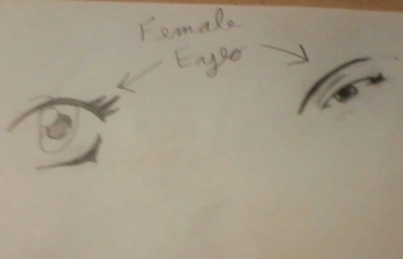 Two anime eyes I drew. I like the one on the left the most.