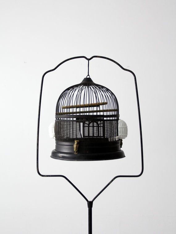 Hey, I found this really awesome Etsy listing at https://www.etsy.com/listing/201154263/antique-bird-cage-with-stand-black