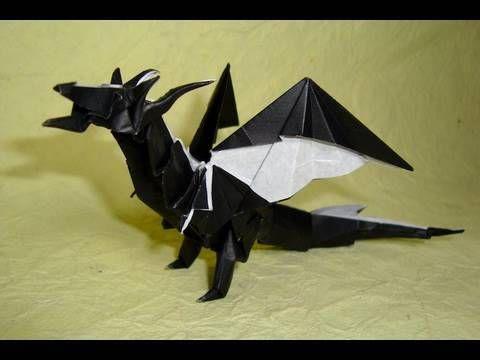 origami smaug!!!                                                                                                                                                                                 More