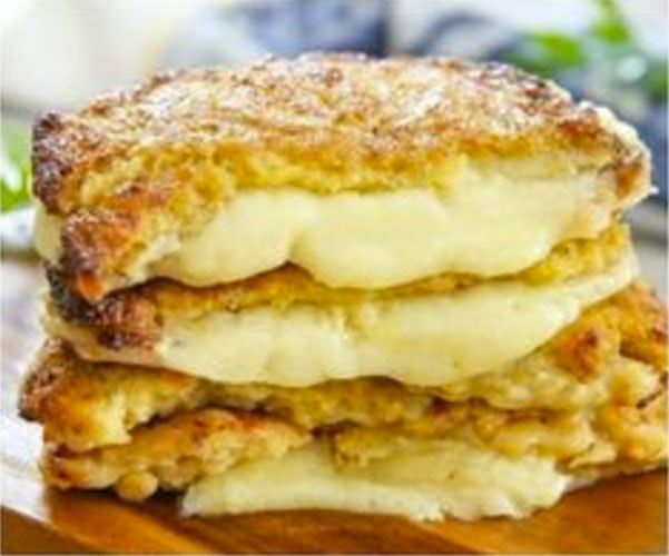 Low Carb Dinners Cauliflower Crusted Grilled Cheese