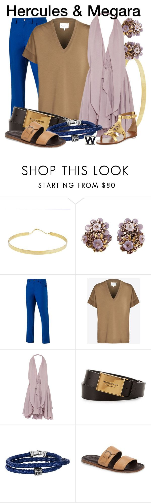 """Hercules"" by wearwhatyouwatch ❤ liked on Polyvore featuring Lana, Puma, Maison Margiela, Maria Grachvogel, Burberry, Phillip Gavriel, Salvatore Ferragamo, Tory Burch, disney and wearwhatyouwatch"
