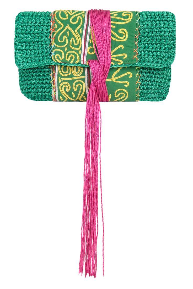 crochet clutch purse  ༺✿ƬⱤღ http://www.pinterest.com/teretegui/✿༻