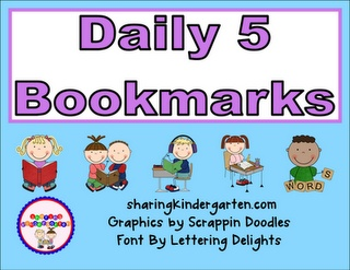 FREE Daily 5 Bookmarks!