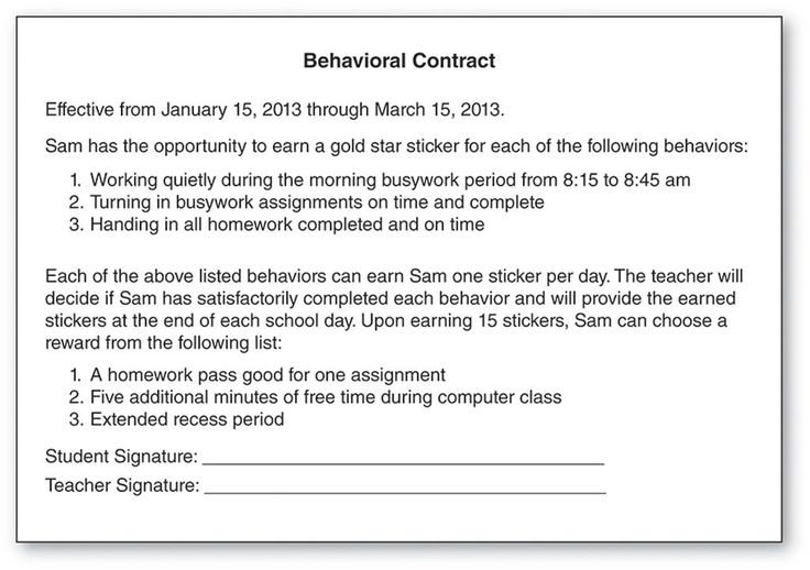 The 18 best sped supports images on pinterest a student behavioral contract effective from january 15 2013 through march 15 2013 sam fandeluxe Choice Image