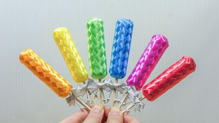 วิธีพับเหรียญโปรยทานไอติมโบราณ (Ice Cream) - 108 Ribbon