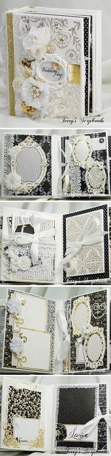 Terry's Scrapbooks: Die Cuts With A View ( DCWV ) Everlasting Love Wedding Mini scrapbook album