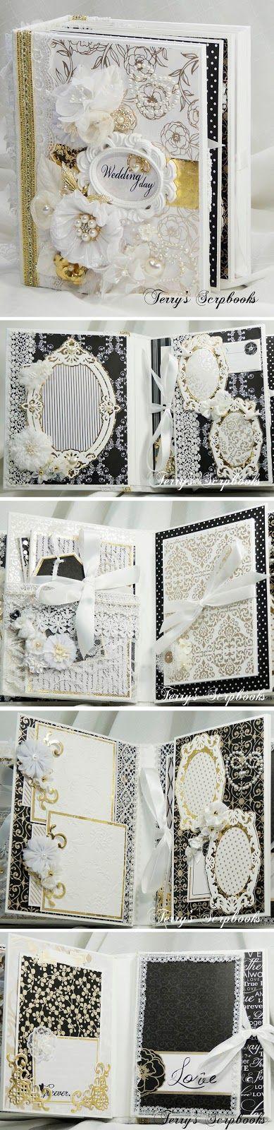 Terry's Scrapbooks: Die Cuts With A View ( DCWV ) Everlasting Love Wedding Mini scrapbook album
