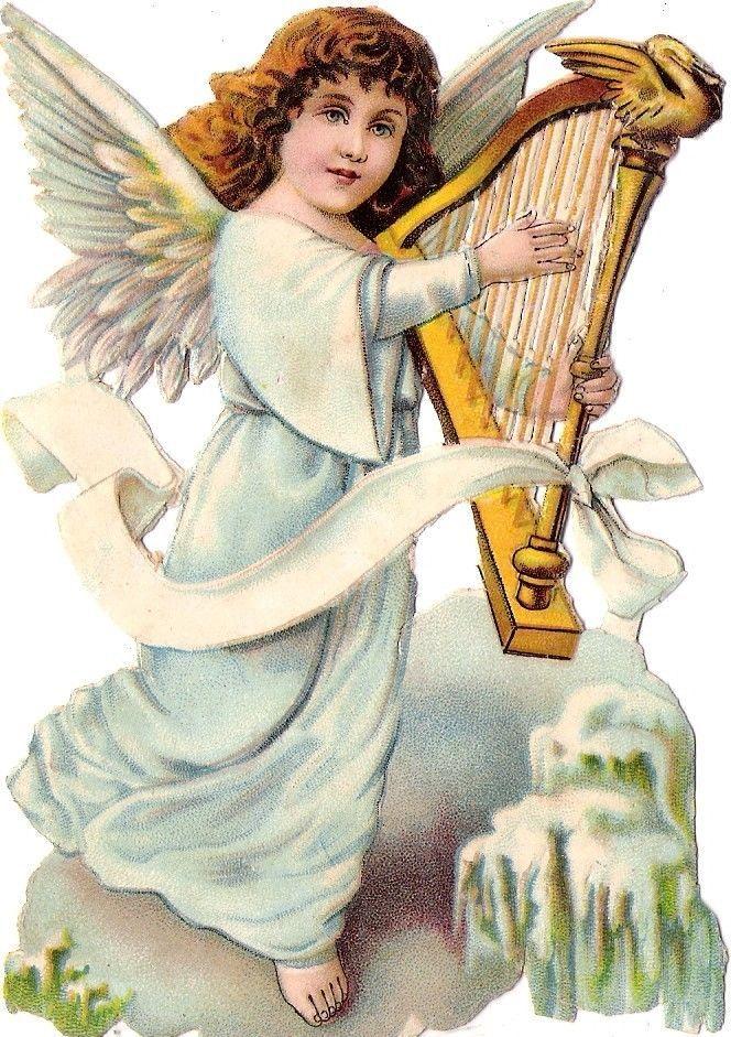 Oblaten Glanzbild scrap die cut chromo Winter Engel angel Schnee snow ice harp in Sammeln & Seltenes, Büro, Papier & Schreiben, Papier & Dokumente | eBay: