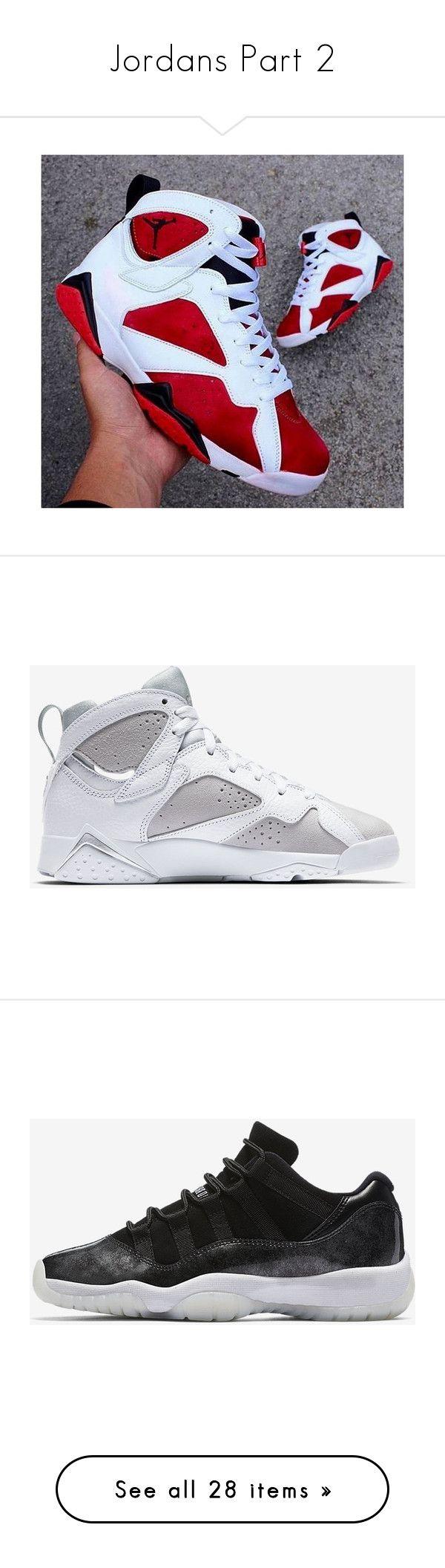 """Jordans Part 2"" by nasza100 ❤ liked on Polyvore featuring shoes, jordans, sneakers, jordan, men's fashion, men's shoes, men's sneakers, nike, mens retro shoes and nike mens shoes"