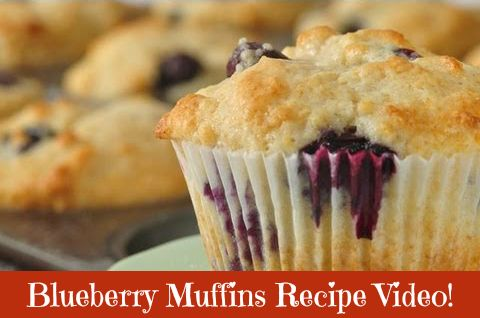 Check out this Blueberry Muffins Recipe! (VIDEO)