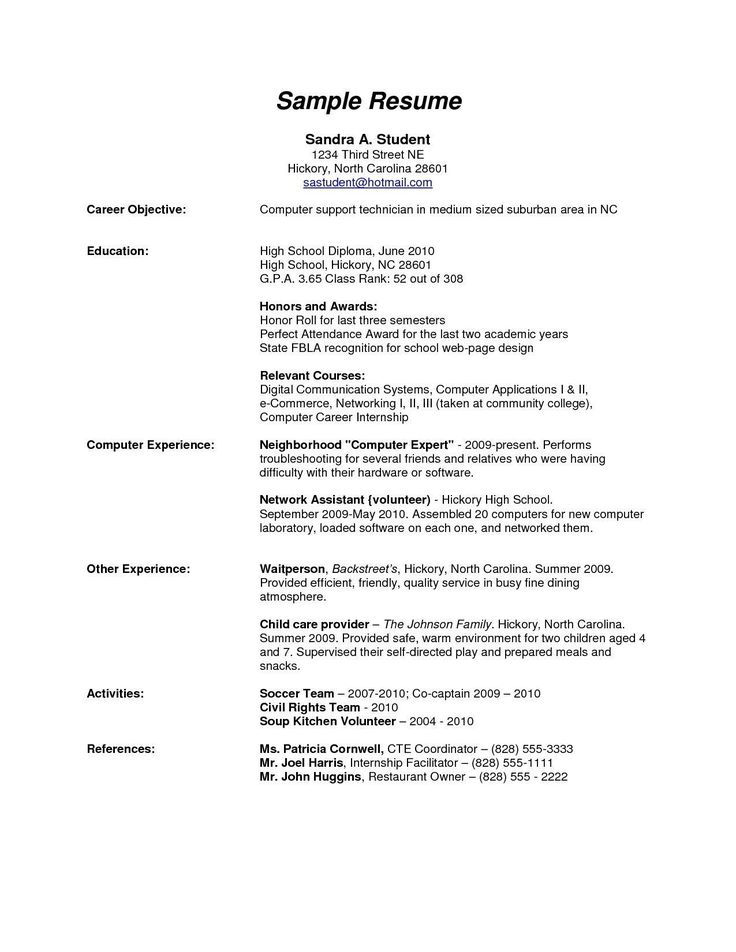 High School Graduate Resume Template Download Resume