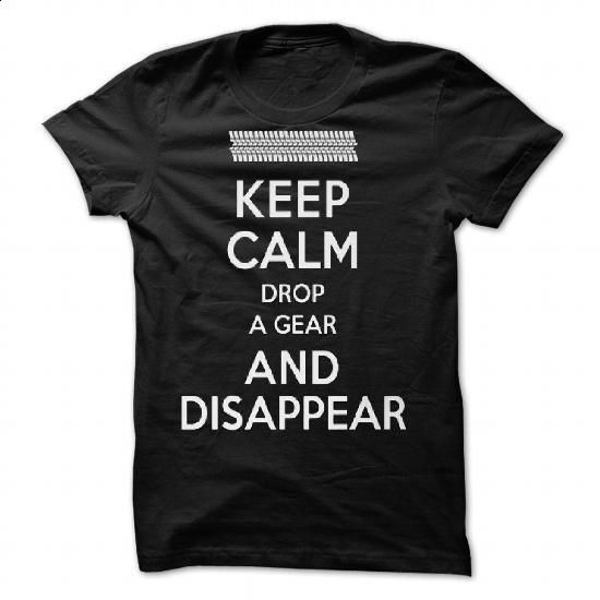 Funny Keep Calm, Drop a Gear and Disappear Drag Racing  - shirt dress #black…