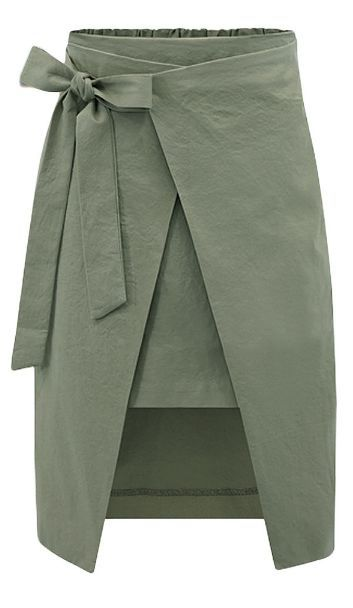 layered wrap skirt
