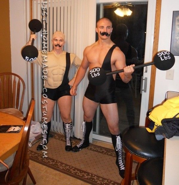 Coolest Homemade Circus Strong Men Costumes... This website is the Pinterest of costumes