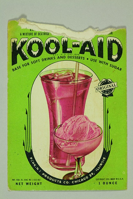 1951 kool-aid packet. We ate it right out of the packet