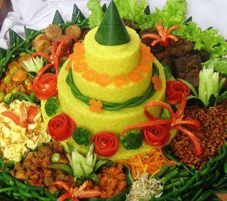 rice cone of Indonesia