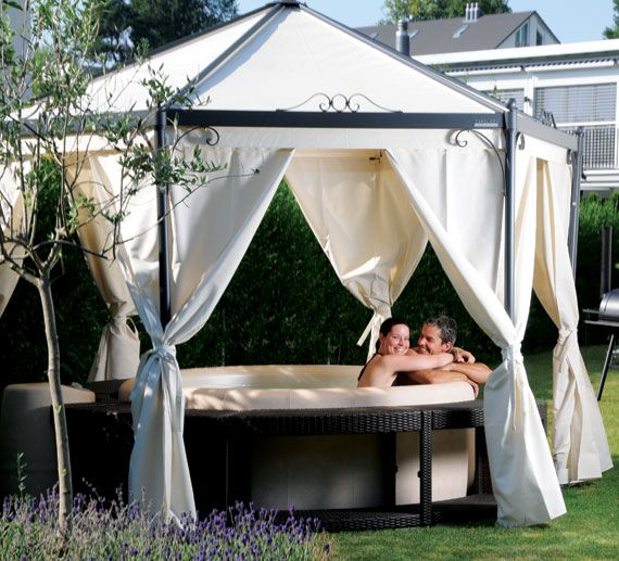 canopy for the hot tub dream privacy only problem you can 39 t see