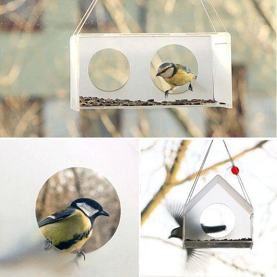 Bird lover gift Bird feeder Hanging bird feeder by Uczarczyk