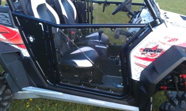 Clear PolyCarbonate Door Skins for Polaris RZR Pro Armor Doors by EMP Extreme Metal Products