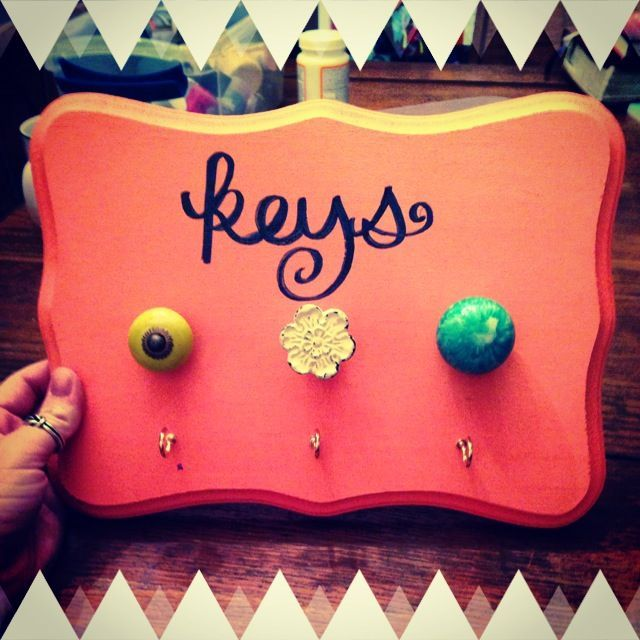 Creative key holder...cuter colors and knobs than that though!