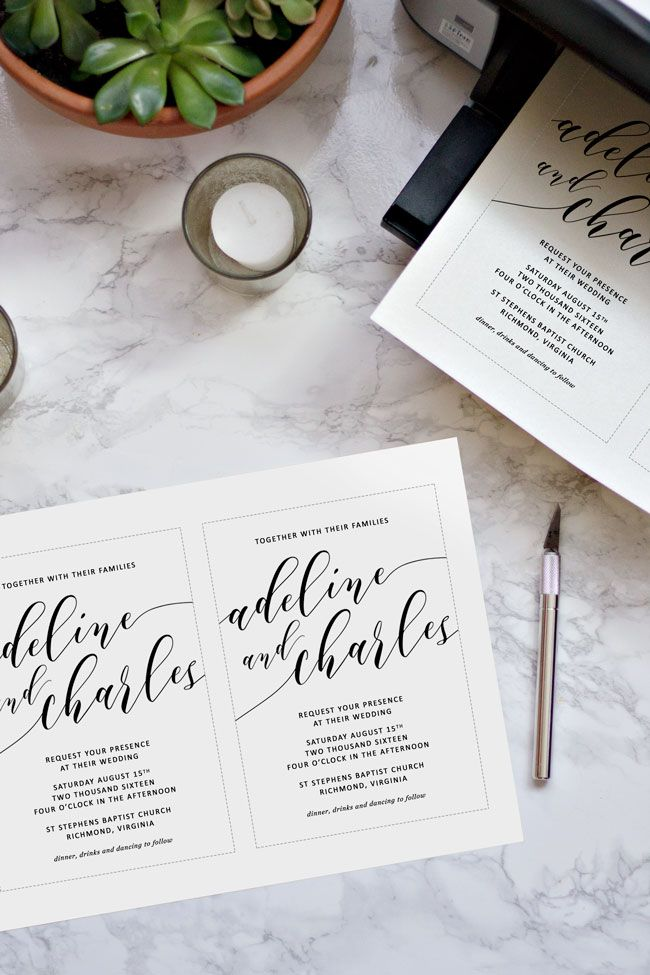 how to make your own wedding invitations the ultimate guide for brides on a budget - How To Print Your Own Wedding Invitations