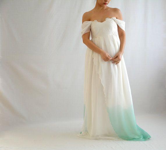 Ombre wedding dress Maternity wedding dress Dip by AliceCloset