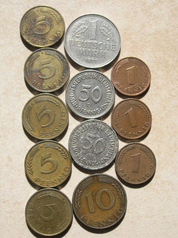 German Coins Collectible Coins Vintage Coins Old by RetroBerlin