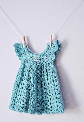 Free crochet dress pattern size newborn to 3 months