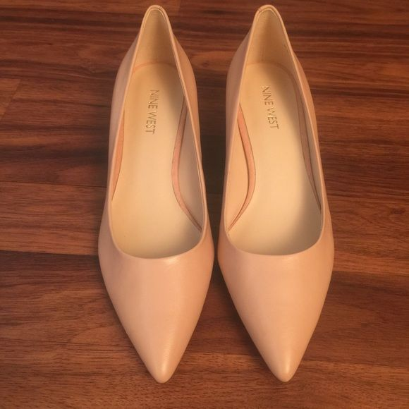 NEW Nine West heels NEW Nine West heels. Size 7. Beautiful blush color, perfect for the season. All leather. Feel free to ask questions.                                                                    NO TRADES  Nine West Shoes Heels