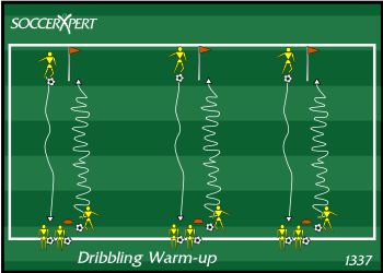 Dribble warm up drill