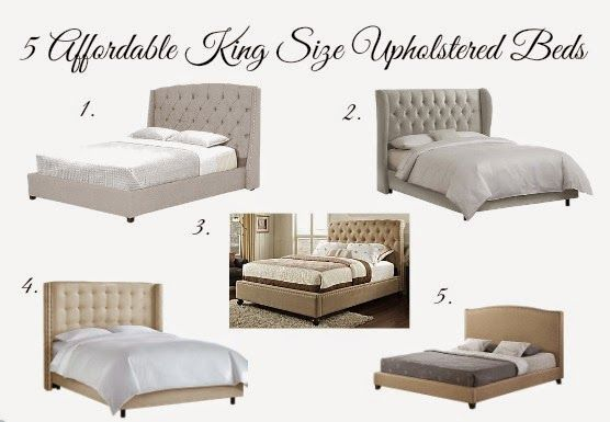 Round up of Affordable Upholstered King Size Beds