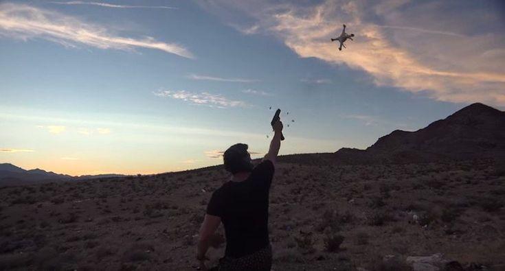 When money is no object you can shoot your way through a drone hoard like Dan Bilzerian.