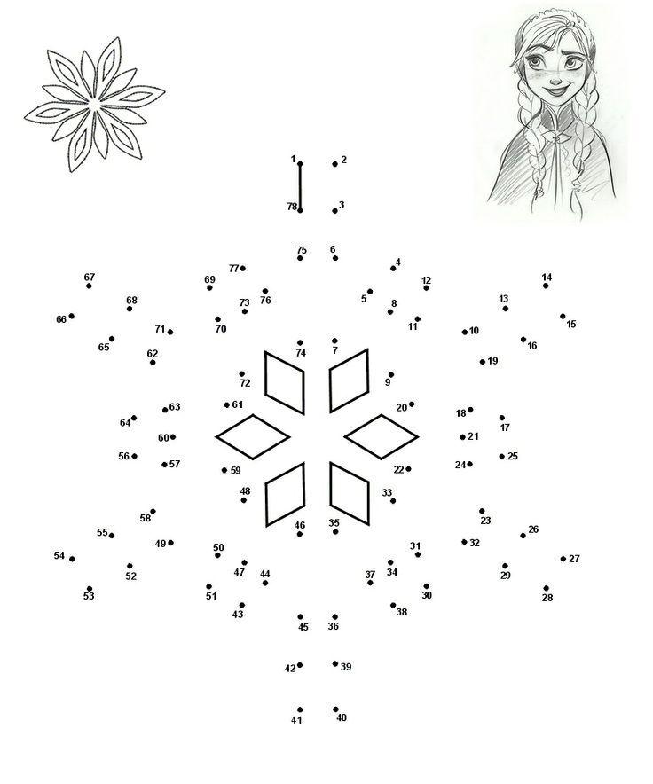 unisci-i-puntini-frozen