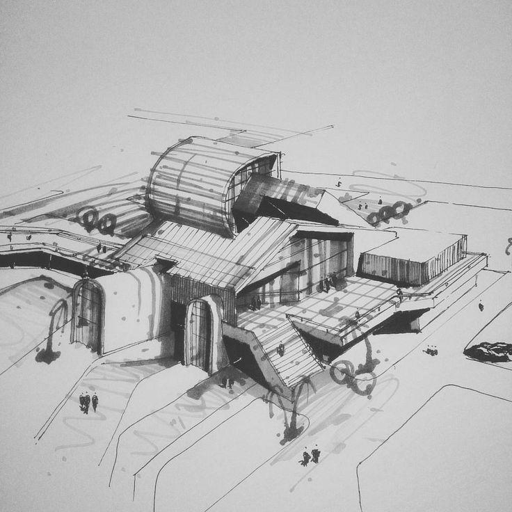 """""""ترکیب احجام.اسکیس.راندو #arqsketch #arquitetapage #papoarquiteto #iarchitectures #arch_more #archilovers #arch #architecture #architecturephotography…"""""""