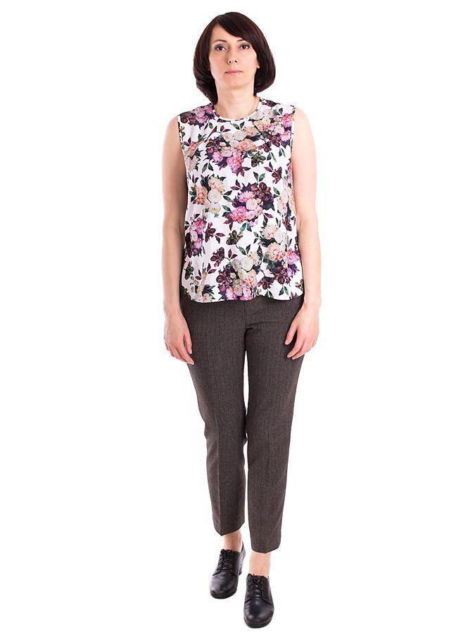 7d5caeb6e75 Купить Летняя женская блузка простого кроя с цветами недорого в Москве